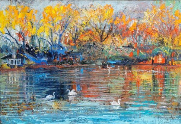 Autumn Haze, Oil painting by Marios Orozco