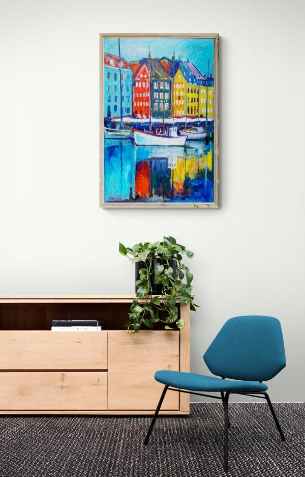 Quiet Nyhavn, Oil on canvas, Marios Orozco