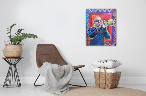 jazz power David Dunbar in setting with white wall