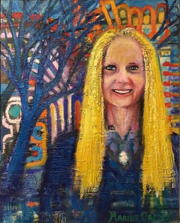 Anette steinhart oil painting by Marios Orozco