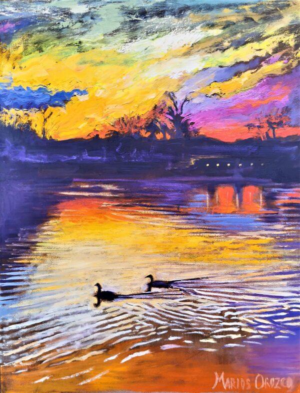 Sundown Serenity, Oil on Canvas by Marios Orozco
