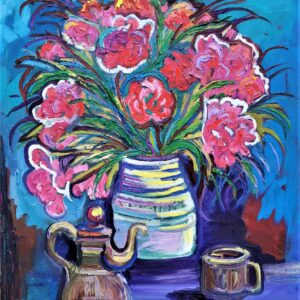 Tea Time , oil painting by Marios Orozco