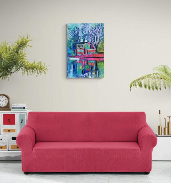 Purple Hue (Windowhouse), Oil on canvas, Marios Orozco