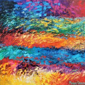 The Passion, 145X145 cm, Oil on canvas, Marios Orozco